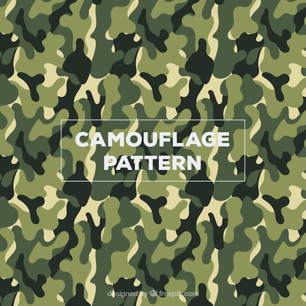 Army camouflage clothing pattern vector Free Vector