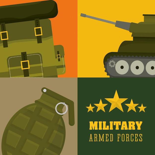 軍の設計図 Premiumベクター