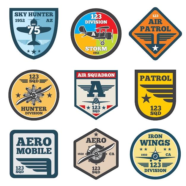 Army labels Premium Vector
