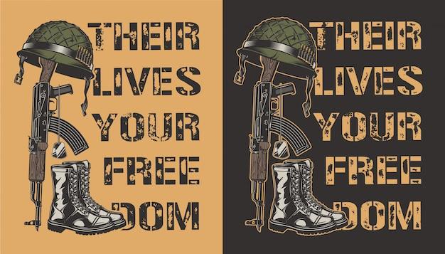 軍の動機付けのポスター 無料ベクター