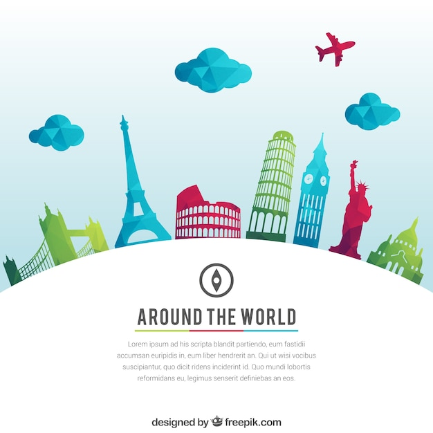 Around the world background vector free download for All inclusive around the world trip