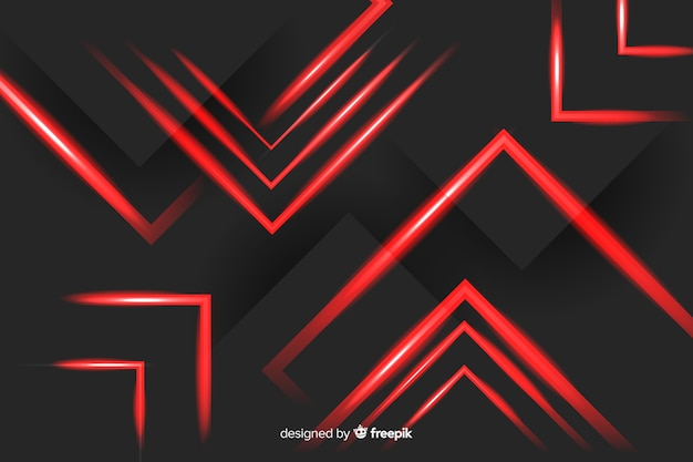 Arranged red rectangle lights on black background Free Vector