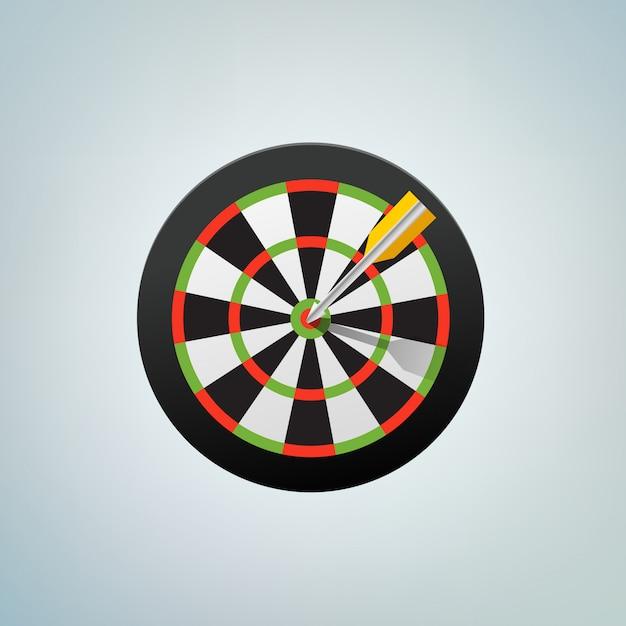 The arrow in bulls eye. color vector illustration Premium Vector