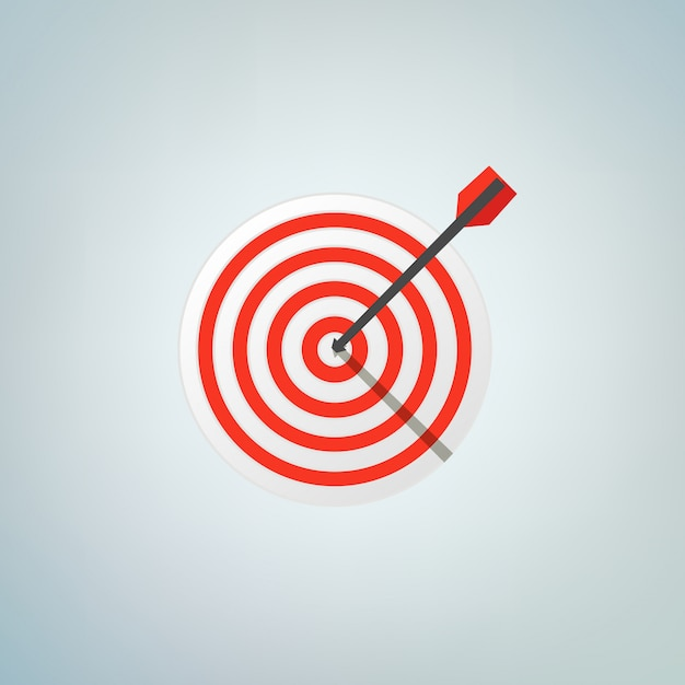 The arrow in bulls eye. color vector illustration Premium Vector