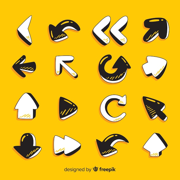Arrow collection Free Vector