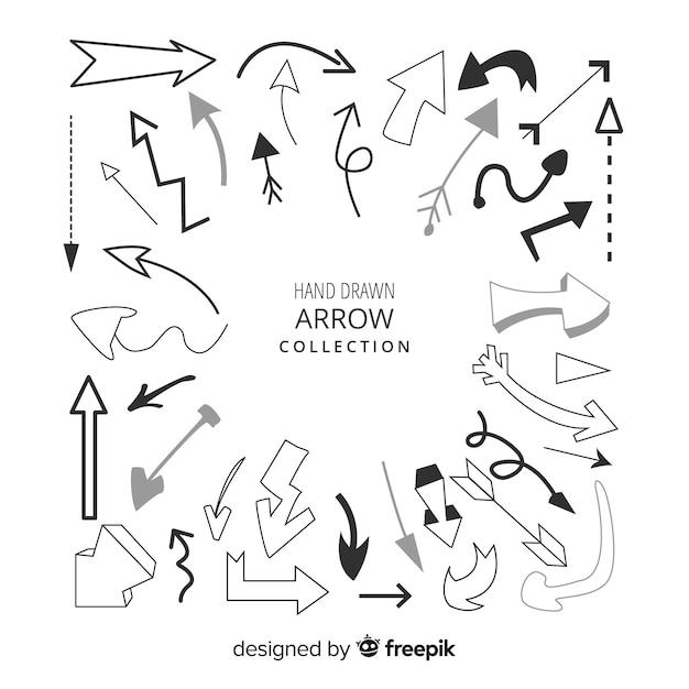 Arrow collection Free Vector