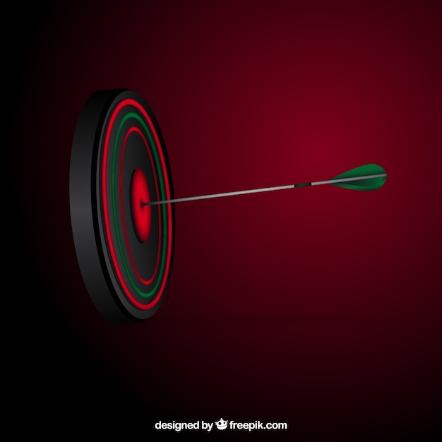 Arrow in the center of a target