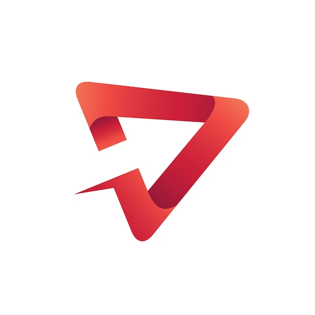 Arrow play logo vector Premium Vector