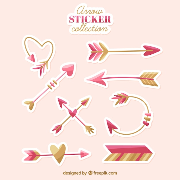 Arrow sitcker collection with lovely style