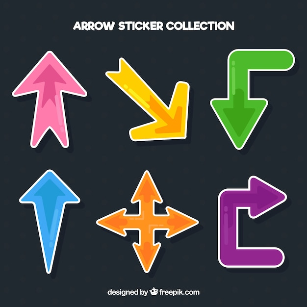 Arrow stickers with colorful style