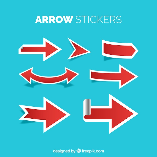 Arrow stickers with modern style