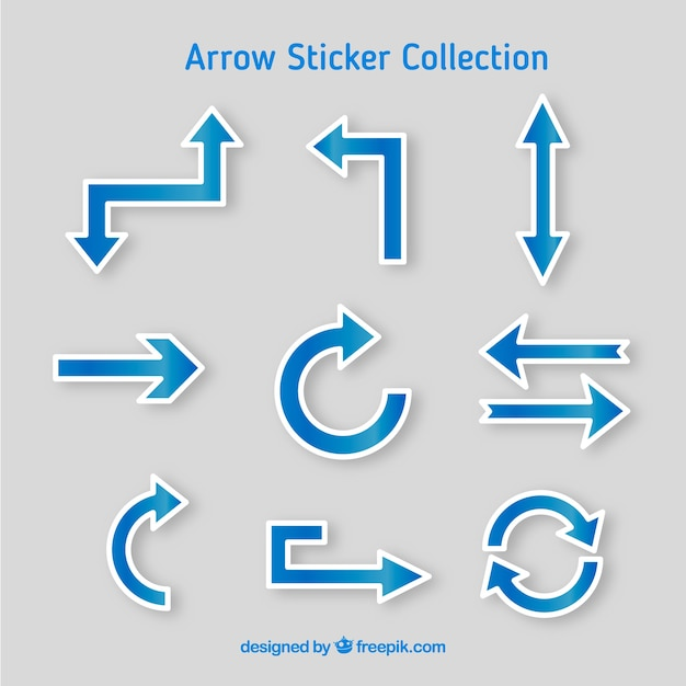Arrow stickers with professional style