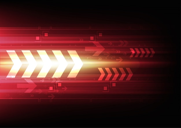 Arrow tech background Free Vector
