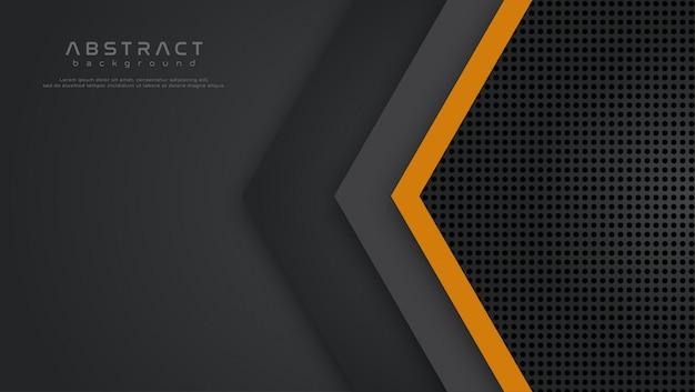 Arrow vector overlap background Premium Vector