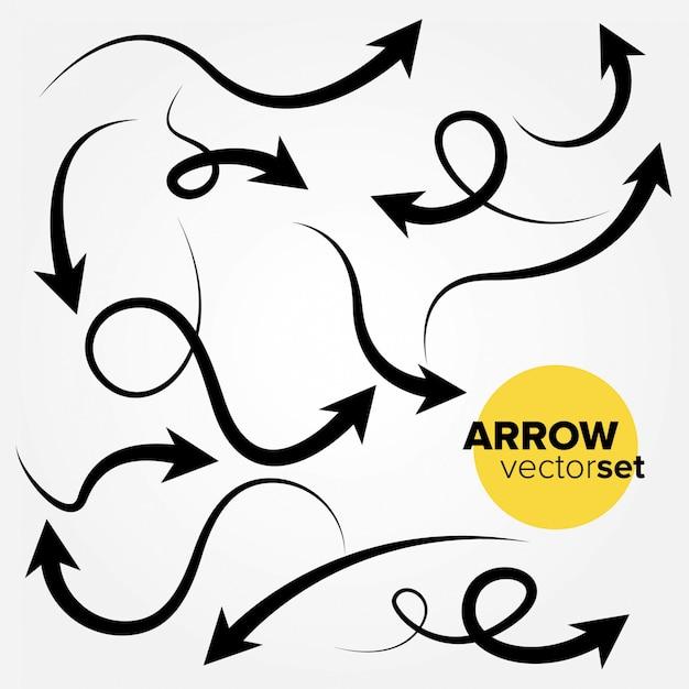 Arrow vector set Premium Vector
