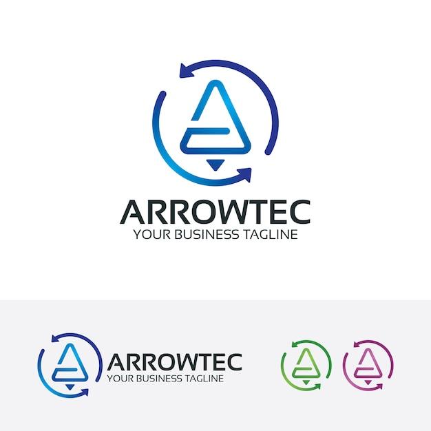 Arrowテクノロジーのベクターロゴテンプレート Premiumベクター