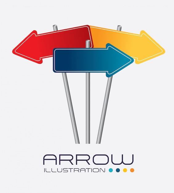 Arrows design vector illustration Premium Vector