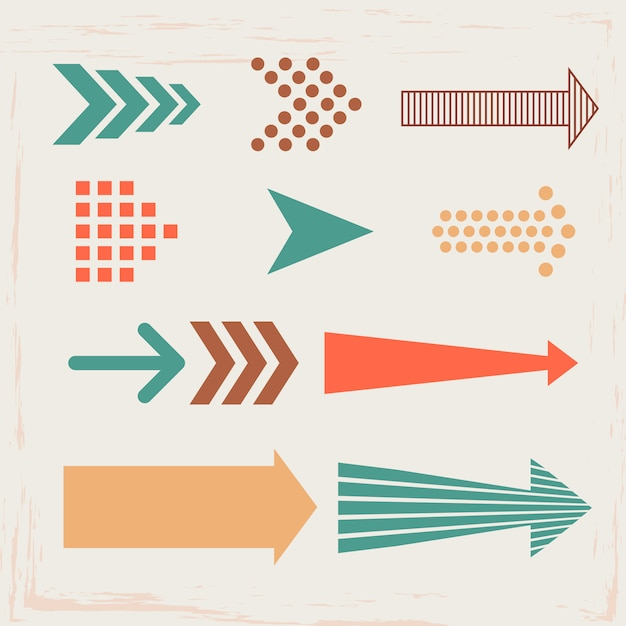 Arrows and directions signs Premium Vector