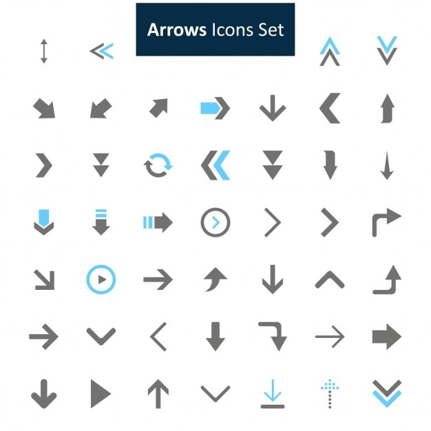 Arrows icon set Free Vector