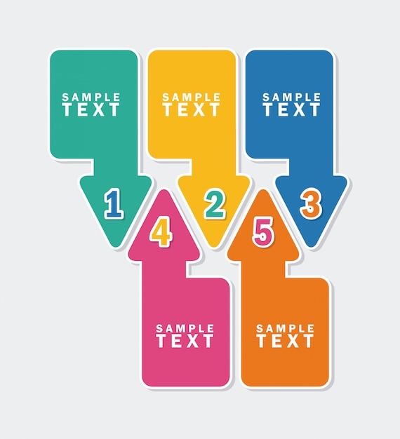 Arrows infographics  over white background vector illustration Premium Vector