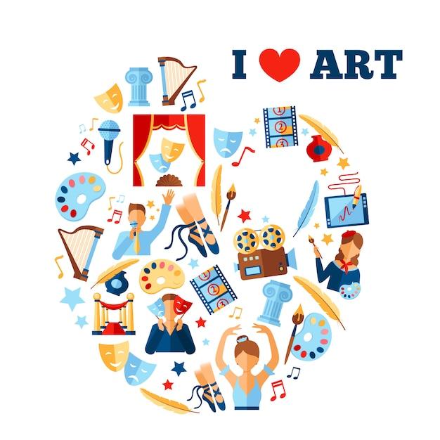 Art concept illustration Free Vector