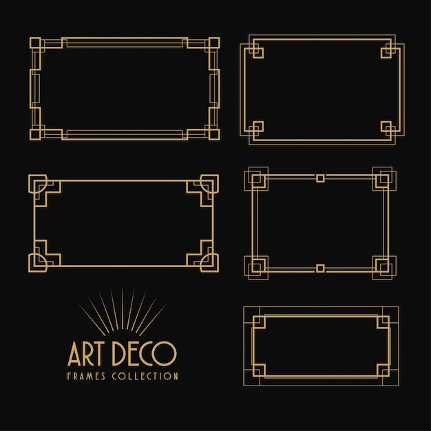 Premium Vector Art Deco Border Collection Download the free graphic resources in the form of png, eps. https www freepik com profile preagreement getstarted 1397555