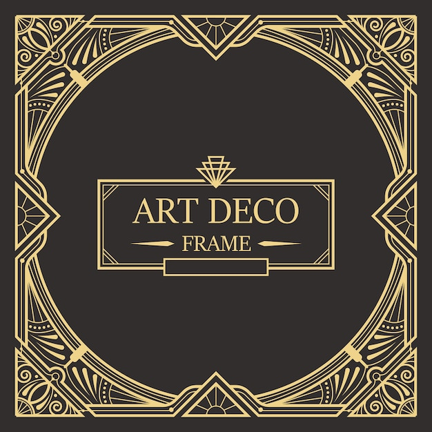 Wondrous Art Deco Border And Frame Template Creative Template In Download Free Architecture Designs Grimeyleaguecom
