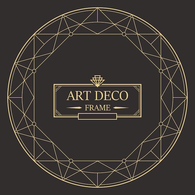 Art deco border and frame template Premium Vector