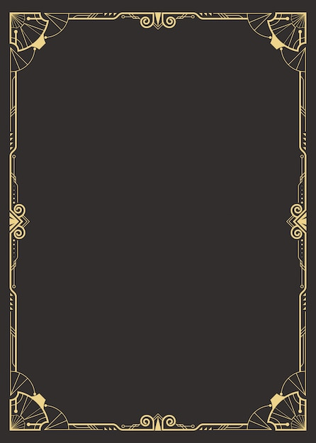 Premium Vector Art Deco Border Template 2248 art deco clip art border free. https www freepik com profile preagreement getstarted 9811972