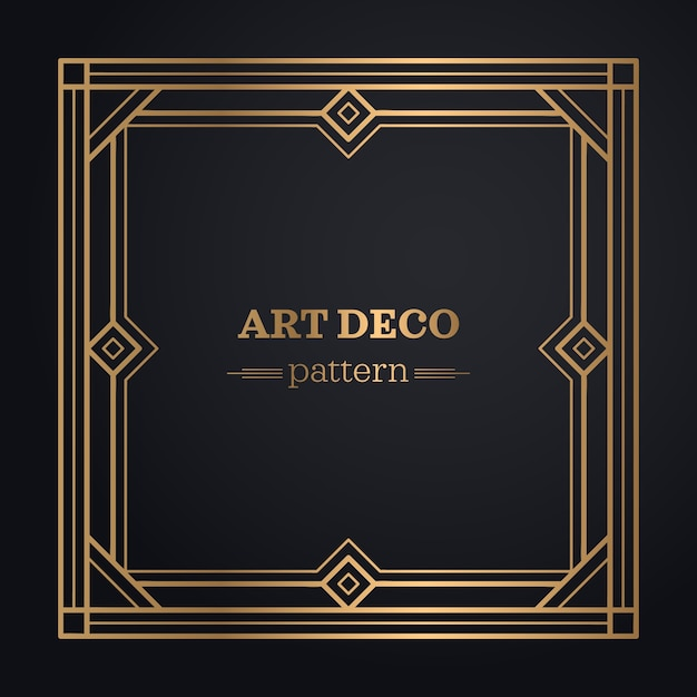 Art Deco Frame Background Vector Free Download
