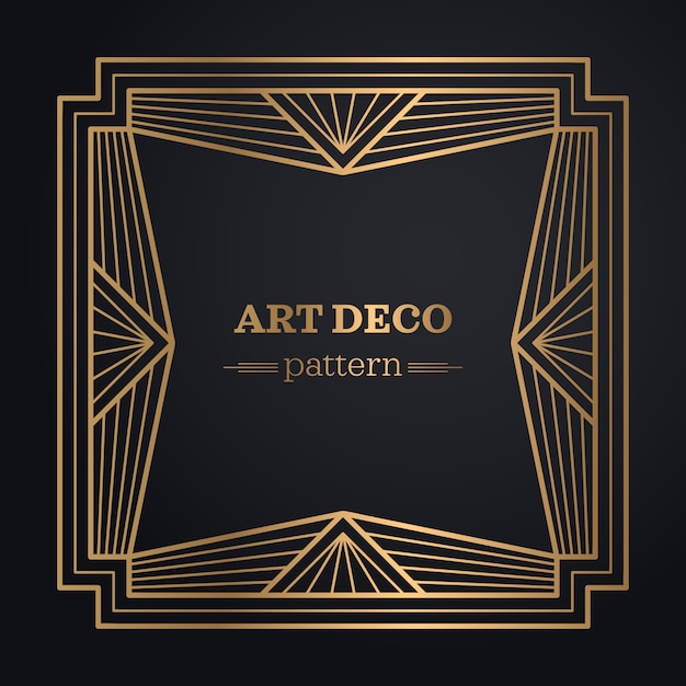 Art deco frame backgro...