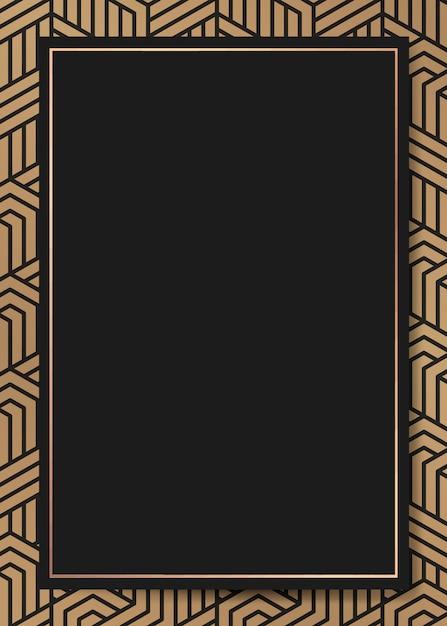 Art deco frame background Free Vector