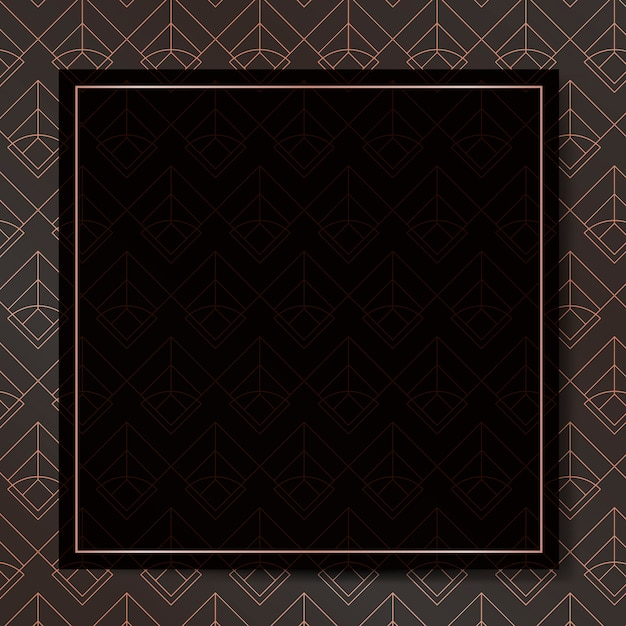 Art deco frame background Free Vector