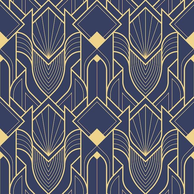 Art deco geometric abstract pattern Premium Vector