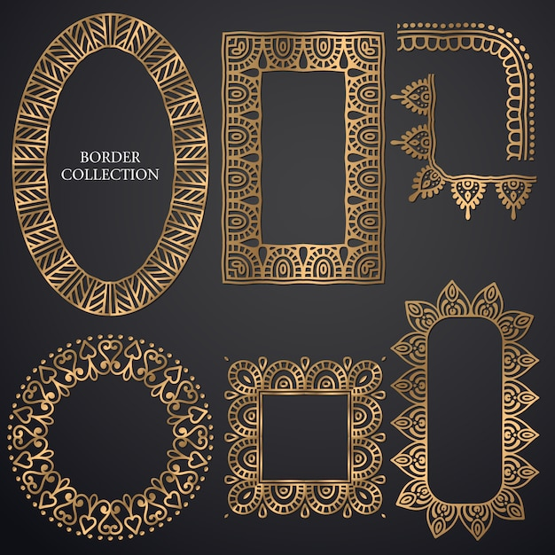 Art-deco ornamental frame Free Vector