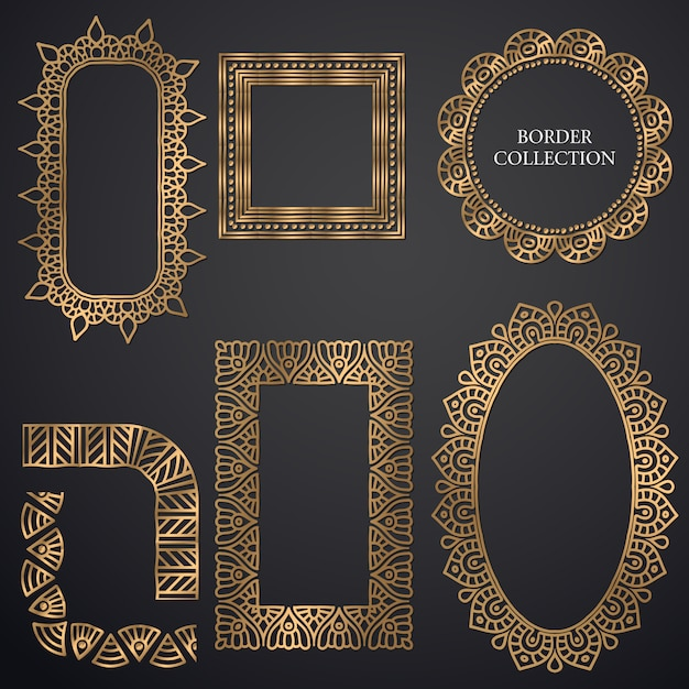 Art-deco ornamental frame Free Vector