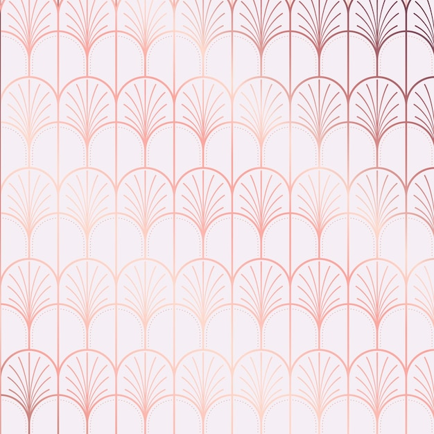 Art deco pattern gradient reflection tones Premium Vector