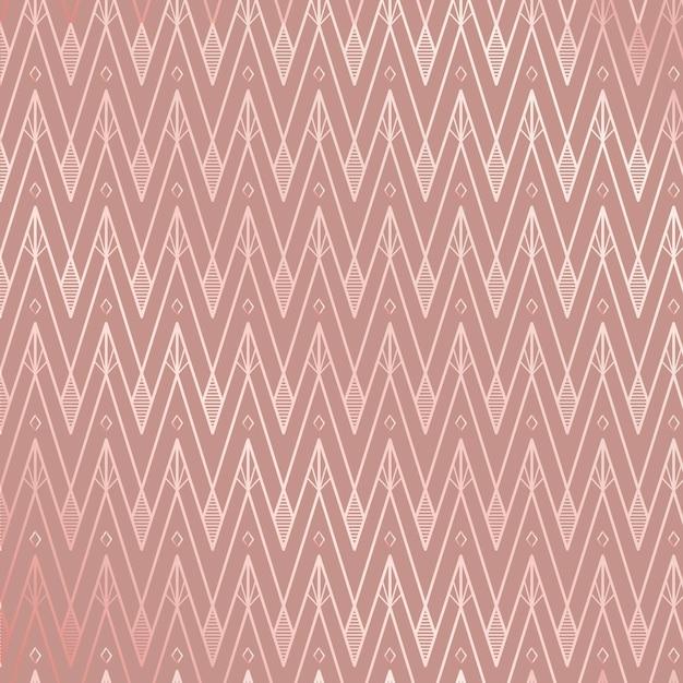 로즈 핑크 톤의 아르 데코 패턴 프리미엄 벡터