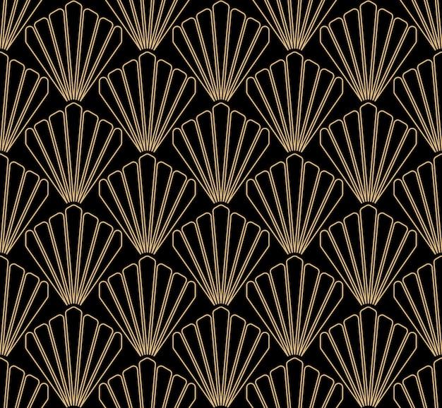 Art deco seamless pattern design Premium Vector