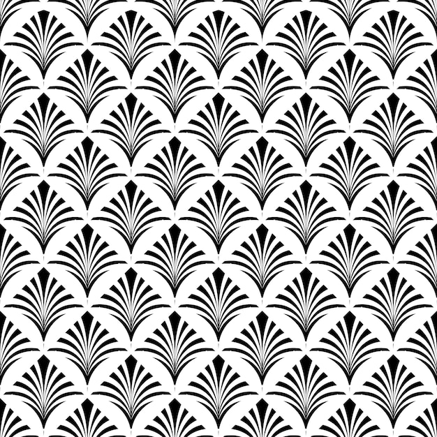 Art deco seamless pattern texture decorative background Premium Vector