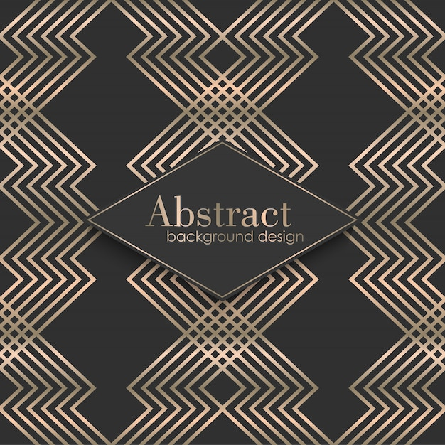 Art deco seamless pattern with gold elements Free Vector