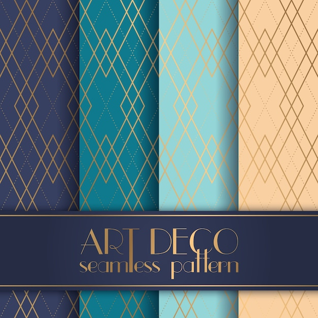 Art Deco seamless pattern Premium Vector
