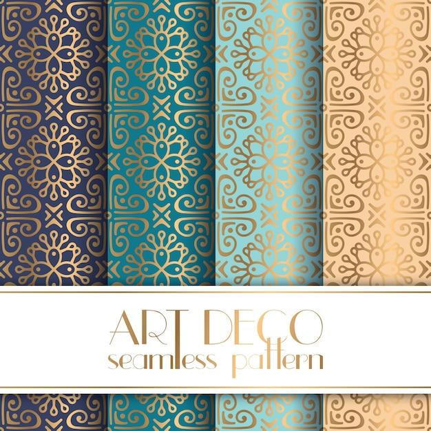 Art Deco seamless pattern Free Vector