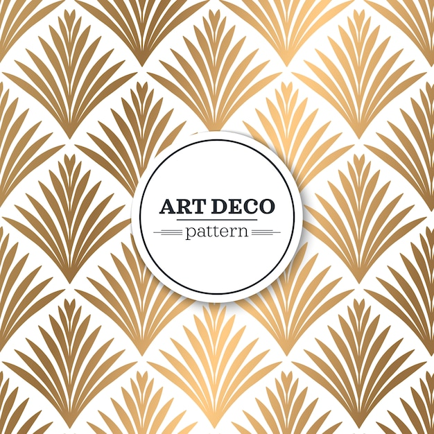 Art deco seamless pattern vector free download for What is art deco