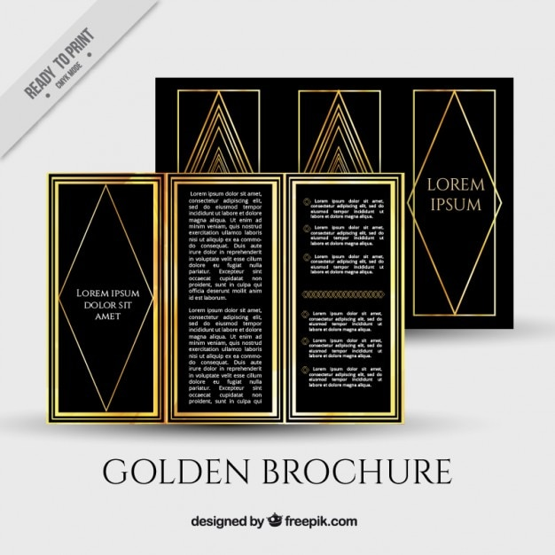 art deco trifold template free vector - Art Brochure Templates Free