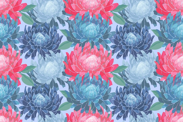 Art floral vector seamless pattern Premium Vector