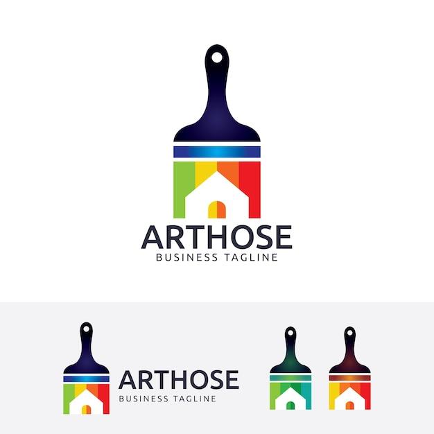 Art house logo template Premium Vector