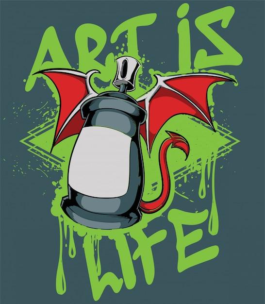 Art is life Premium Vector