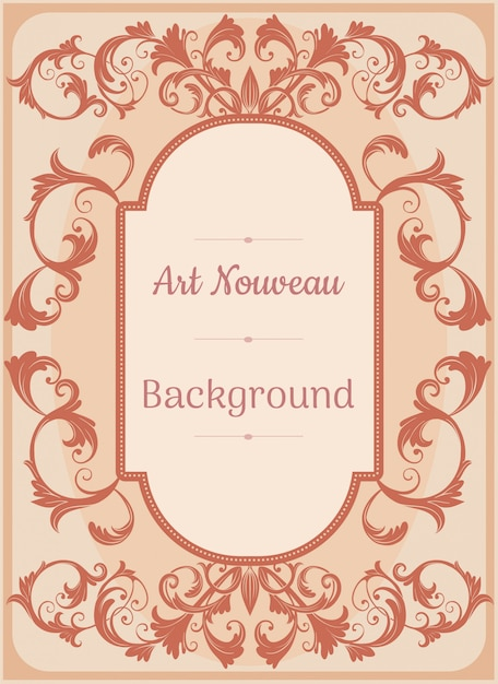 Art nouveau background Premium Vector