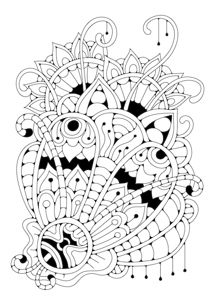 Premium Vector Art Therapy Coloring Page For Children And Adults